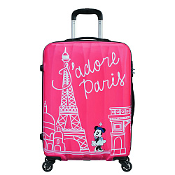 Чемодан Disney by American Tourister Disney Legends, TAKE ME AWAY MINNIE PARIS, 'Минни Париж', розовый
