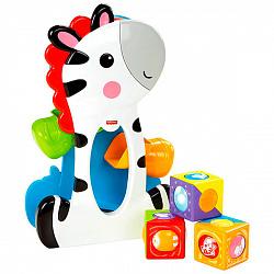 Развивающие игрушки для малышей Mattel Fisher-Price CGN63 Фишер Прайс Зебра с волшебными кубиками