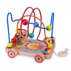 Деревянные игрушки Lucy&Leo LL160 Лабиринт-каталка 'Лев'