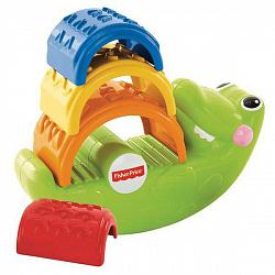 Развивающие игрушки для малышей Mattel Fisher-Price CDC48 Фишер Прайс Игрушка-пирамидка 'Крокодильчик'