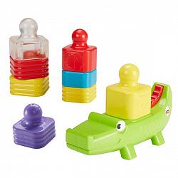 Развивающие игрушки для малышей Mattel Fisher-Price DRG34 Игрушка-пирамидка 'Веселый крокодил'