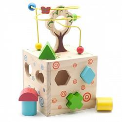 Деревянные игрушки Игрушки из дерева D014 Логический кубик
