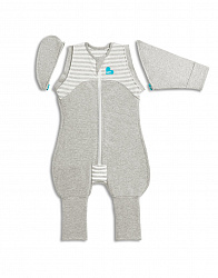 Спальный комбинезон Love To Dream Swaddle UP Transition Suit Original M, Grey, серый